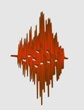 Relativ bild för musik kurva för solid våg Royaltyfria Bilder