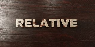Relative - grungy wooden headline on Maple  - 3D rendered royalty free stock image Royalty Free Stock Photo