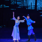 """Relatives in the distance-Dance drama """"The Dream of Maritime Silk Road"""" Stock Photo"""