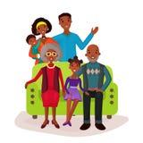 Relatives and happy family on sofa symbol Royalty Free Stock Photography