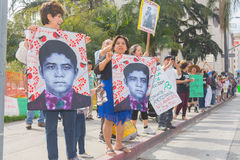 Relatives of the students who disappeared in Mexico packed the s Stock Images