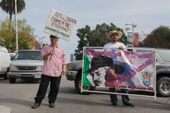 Relatives of the students who disappeared in Mexico packed the s Royalty Free Stock Photo