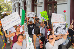 Relatives of the students who disappeared in Mexico packed the s Stock Photos