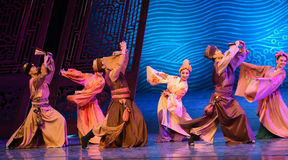 """Relatives visit-Dance drama """"The Dream of Maritime Silk Road"""". Dance drama """"The Dream of Maritime Silk Road"""" centers on the plot of two generations of a Stock Images"""