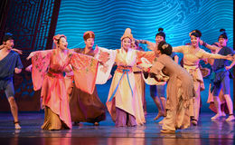 """Relatives visit-Dance drama """"The Dream of Maritime Silk Road"""". Dance drama """"The Dream of Maritime Silk Road"""" centers on the plot of two generations of a Stock Photos"""
