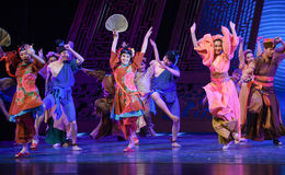 "Relatives visit-Dance drama ""The Dream of Maritime Silk Road"" Stock Images"