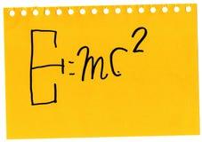 Relativiteitstheorie Stock Afbeelding
