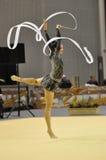 Relativo alla ginnastica ritmico Fotografia Stock