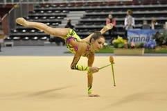 Relativo alla ginnastica ritmico, Anna Trubnikova Immagini Stock