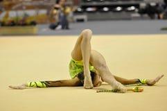 Relativo alla ginnastica ritmico, Anna Turbnikova Immagine Stock