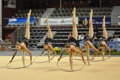Relativo alla ginnastica ritmico, Canada fotografia stock