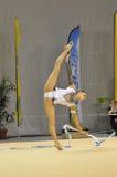 Relativo alla ginnastica ritmico, Delphine Ledoux Fotografie Stock