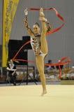 Relativo alla ginnastica ritmico, Ekatarina Donich Russia fotografia stock