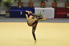 Relativo alla ginnastica ritmico, Ekaterina Donich Immagine Stock