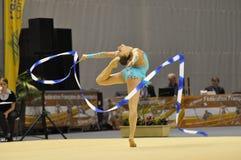 Relativo alla ginnastica ritmico, Keziah Gore Regno Unito fotografia stock