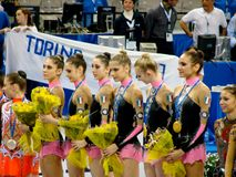 Relativo alla ginnastica ritmico: L'Italia Fotografia Stock Libera da Diritti