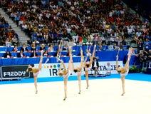 Relativo alla ginnastica ritmico: L'Italia Fotografie Stock Libere da Diritti