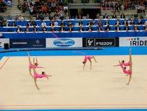 Relativo alla ginnastica ritmico: La Russia Fotografia Stock Libera da Diritti