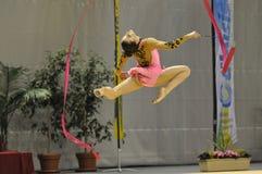 Relativo alla ginnastica ritmico, Mariam Chamilova Fotografie Stock