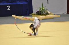 Relativo alla ginnastica ritmico, Medea Gatehnadze fotografia stock libera da diritti