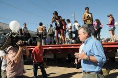 Relatore britannico durante la protesta messicana Fotografia Stock Libera da Diritti