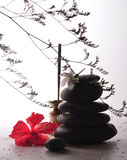 Relax. Simple relaxation with incense sticks Stock Photography