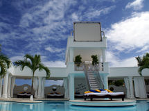 Relax. Luxury pool at central american resort Royalty Free Stock Photos