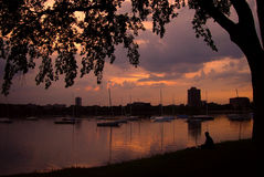 Relax. Taken at Lake Calhoun Minneapolis Stock Photos