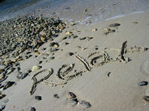 Relax 3. Relax on a sandy beach royalty free stock photography