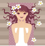 Relax. Ing beauty young lady doing spa Royalty Free Illustration