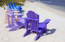 Relax. Palm Beach on Aruba island royalty free stock photography