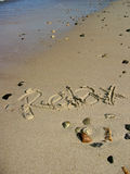 Relax 4. Relax on a sandy beach Royalty Free Stock Photo