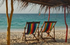 Relax!. Relaxing on a beautiful caribbean beach in Colombia Stock Image