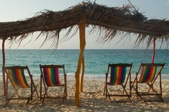 Relax!. Relaxing on a beautiful caribbean beach in Colombia Royalty Free Stock Photos