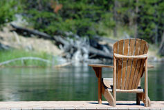 Relax. Chair on dock for relaxing stock images