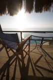 Relax. Chair on a balkon at Engremni beach Royalty Free Stock Photography