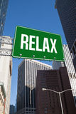 Relax against new york Stock Photography