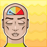 Relax Alert gauge meditating person vector Stock Photography