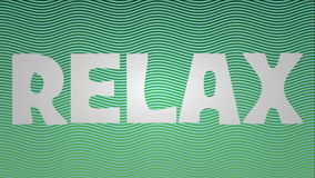 Relax animated title on light blue wavy background with bubbles stock footage