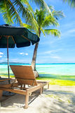 Relax area on beach Royalty Free Stock Photography