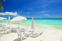 Relax area on beach Stock Photo