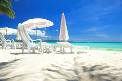 Relax area on beach Royalty Free Stock Image