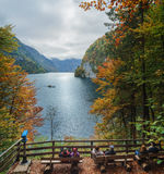 Relax At Konigssee Lake In Autumn. View Of Koenigssee ( King S Lake) Royalty Free Stock Images
