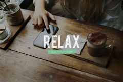 Relax Attitude Inspiration Motivation Positive Concept Royalty Free Stock Photos