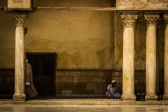 Relax in the Azhar Mosque Royalty Free Stock Photos