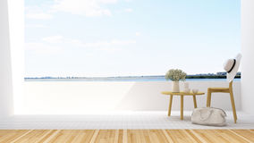 Relax balcony in hotel - 3D Rendering Stock Photography