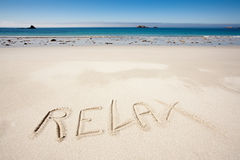 Relax beach Royalty Free Stock Image