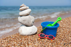 Relax at the beach Stock Image
