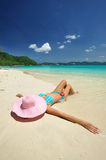Relax on a beach Royalty Free Stock Photography