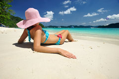 Relax on a beach Stock Photography